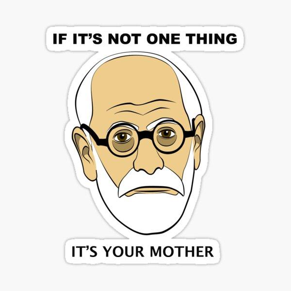 PSYCHOLOGIE-SPASS - Sigmund Freud Image & amp; Sprichwort Sticker