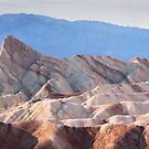 Classic view of Zabriskie Point, Death Valley  by Hotaik  Sung