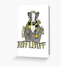 Badger huffle Greeting Card