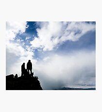 Climbers on a peak Photographic Print