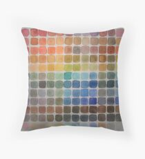 Color Chart Throw Pillow