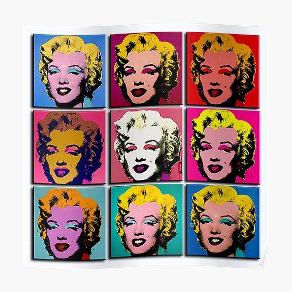 MARILYN ABSTRACT : Art Deco Pop Art Print Poster