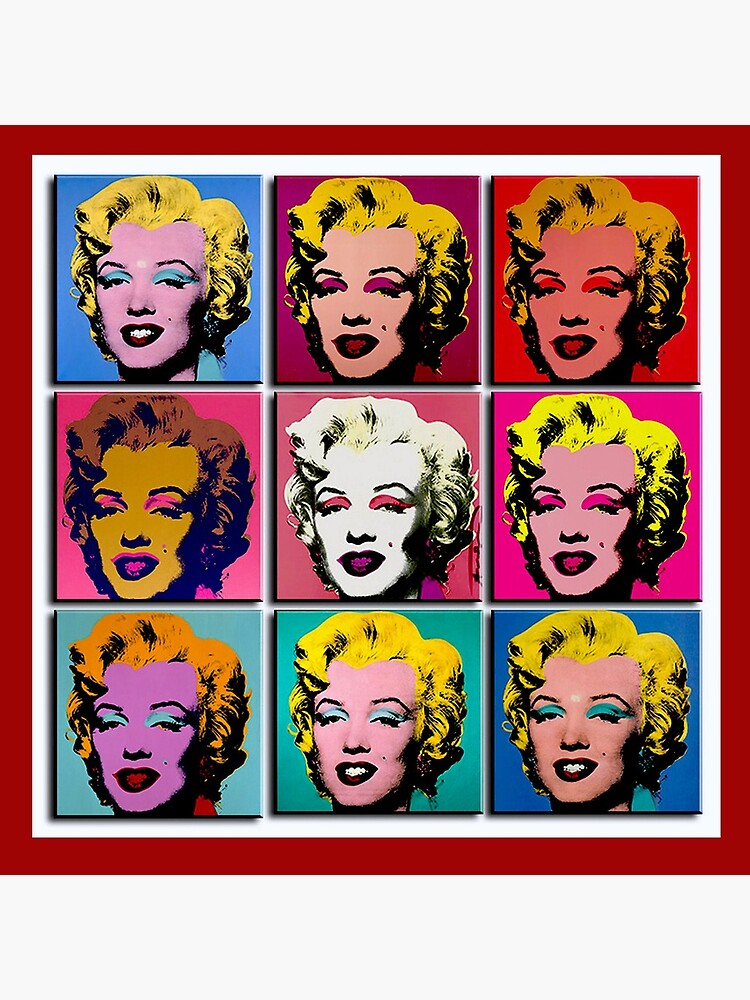 MARILYN ABSTRACT : Art Deco Pop Art Print by posterbobs