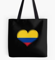 Colombia Heart Flag Tote bag