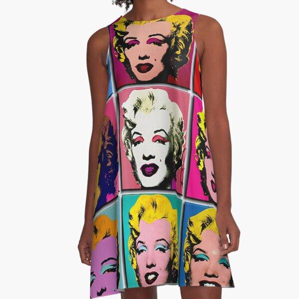 MARILYN ABSTRACT : Art Deco Pop Art Print A-Line Dress