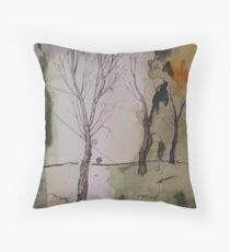 when winter ends Throw Pillow