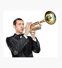 man playing trumpet - stock image Photographic Print