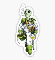 alien pilot is a film fan Sticker