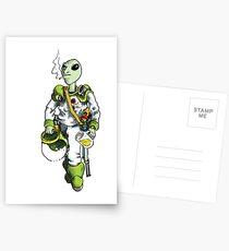 alien pilot is a film fan Postcards