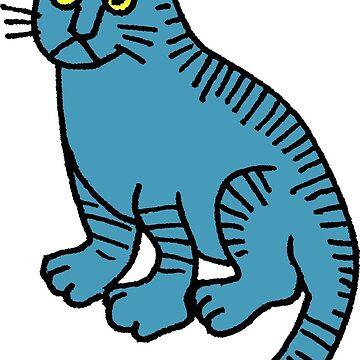 Blue cat  by irisboudreau