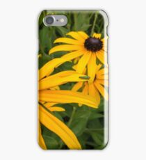 Green insect on yellow flower iPhone Case/Skin