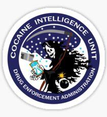 Pegatina Unidad de Inteligencia de Cocaína DEA