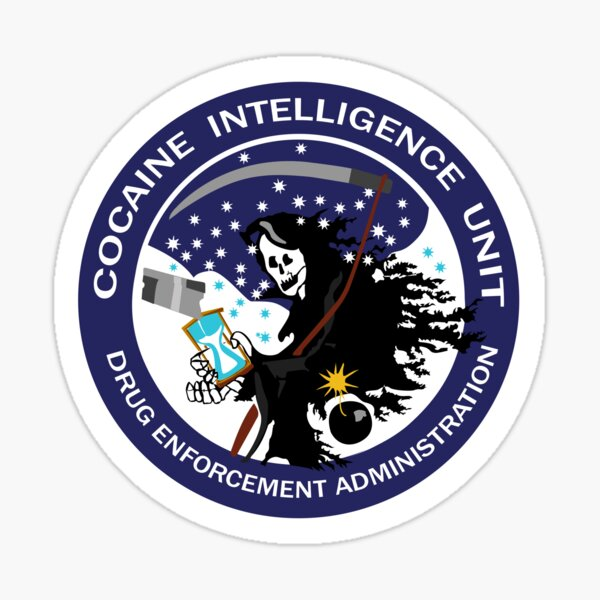 DEA Cocaine Intelligence Unit Sticker