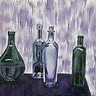 Bottles and Waterfall by Brinaka N.