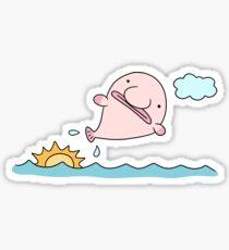 Blobfish Jump Sticker
