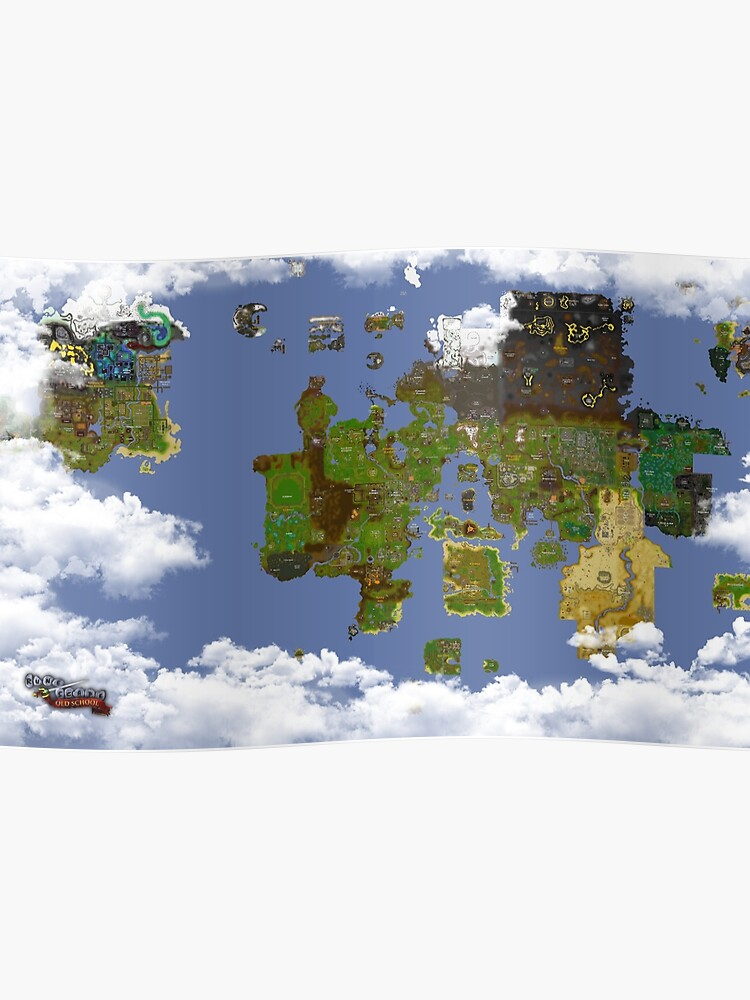 OSRS World map | Poster