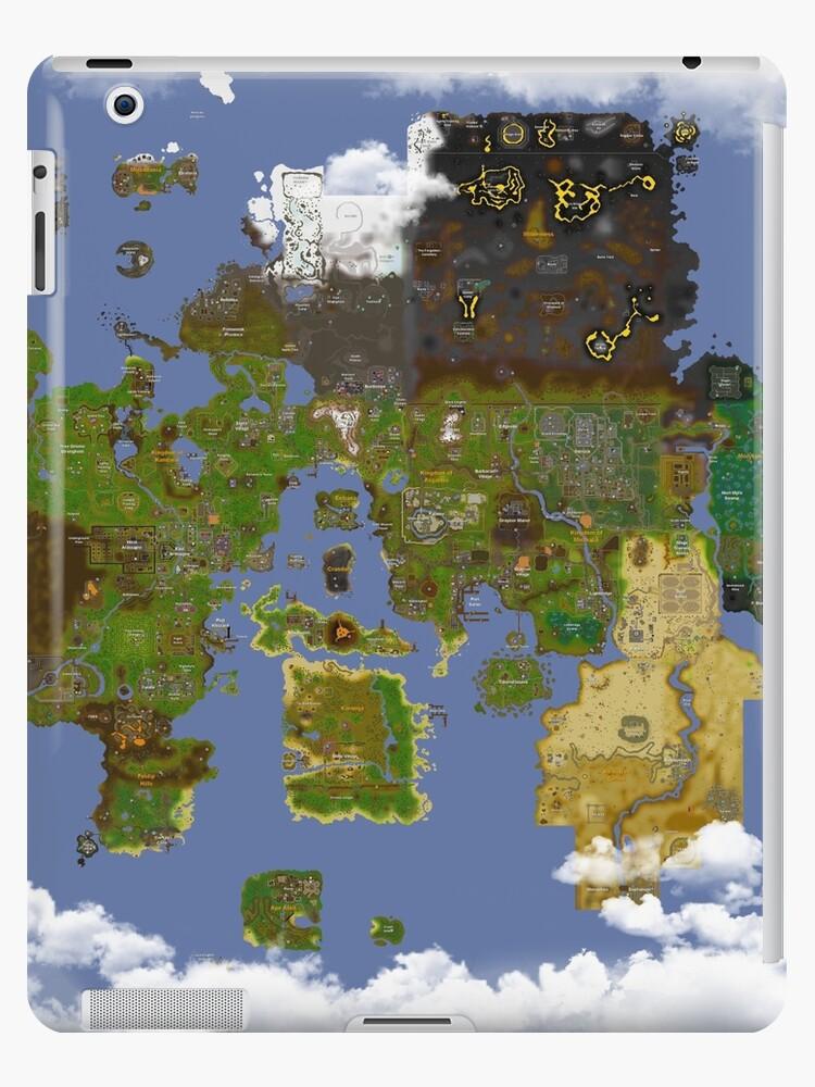 \'OSRS World map\' iPad Case/Skin by Ben DZN