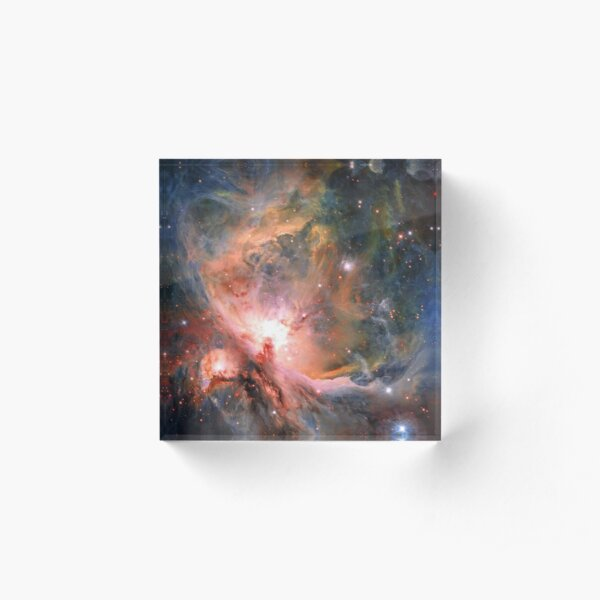Space, Orion, observations, Survey Telescope, Telescope, astronomers, discovered, populations, young stars Acrylic Block