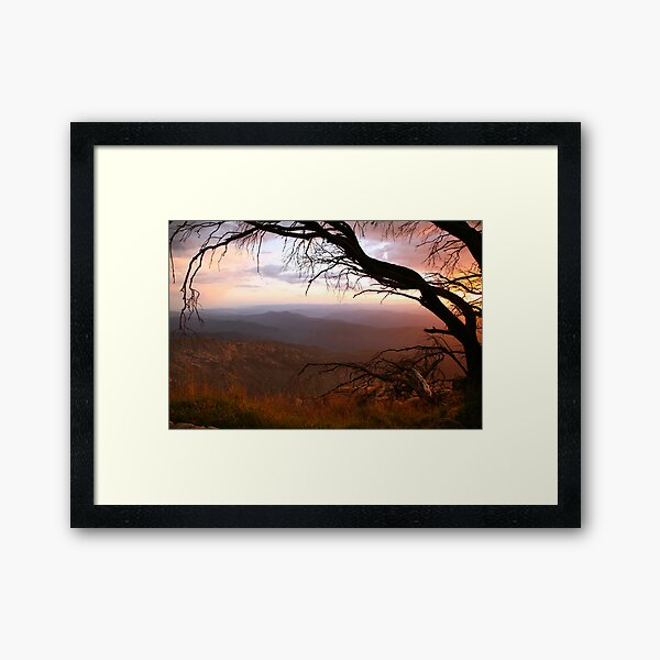 "Sunset view from ""The Horn"" at Mt Buffalo, Australia Framed Art Print"