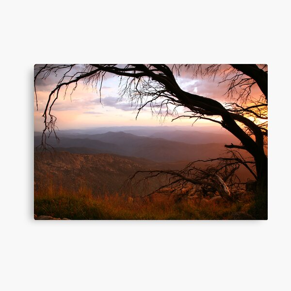 """Sunset view from """"The Horn"""" at Mt Buffalo, Australia Canvas Print"""