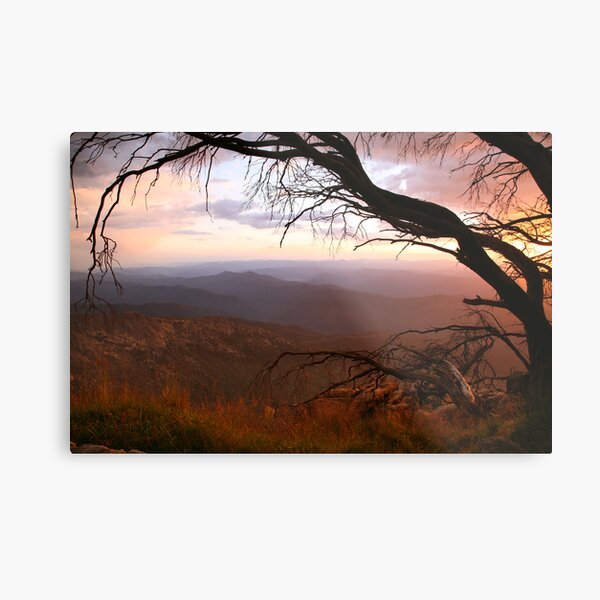 """Sunset view from """"The Horn"""" at Mt Buffalo, Australia Metal Print"""