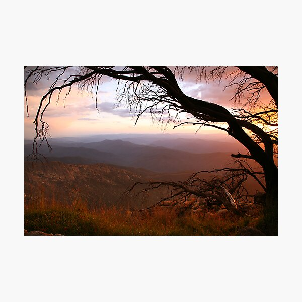 "Sunset view from ""The Horn"" at Mt Buffalo, Australia Photographic Print"