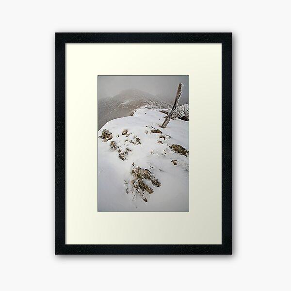 Winter on the Razorback, Mt Hotham, Australia Framed Art Print