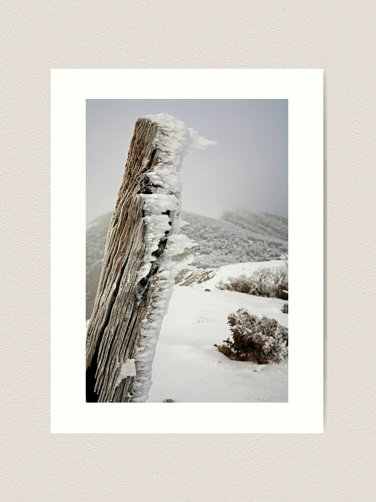 Alternate view of Winter on the Razorback, Mt Hotham, Australia Art Print