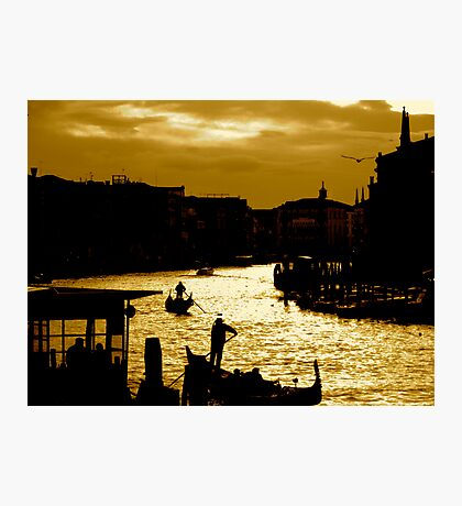 CANAL LIFE IN VENICE Photographic Print