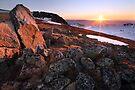 Sunset over Mt Kosciusko Summit, Australia by Michael Boniwell
