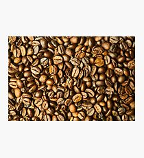 Brown Coffee Beans Background Photographic Print
