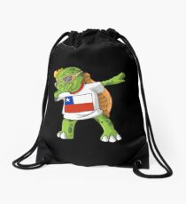 Chile Dabbing Turtle Drawstring Bag