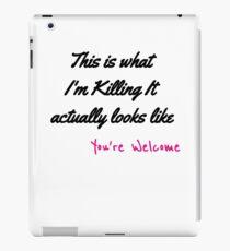 Killing The Game iPad Case/Skin