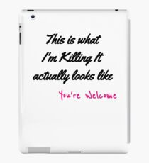 Killing The Game iPad Case/Skin