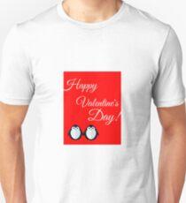 Happy Valentines Day! Penguin Couple Unisex T-Shirt
