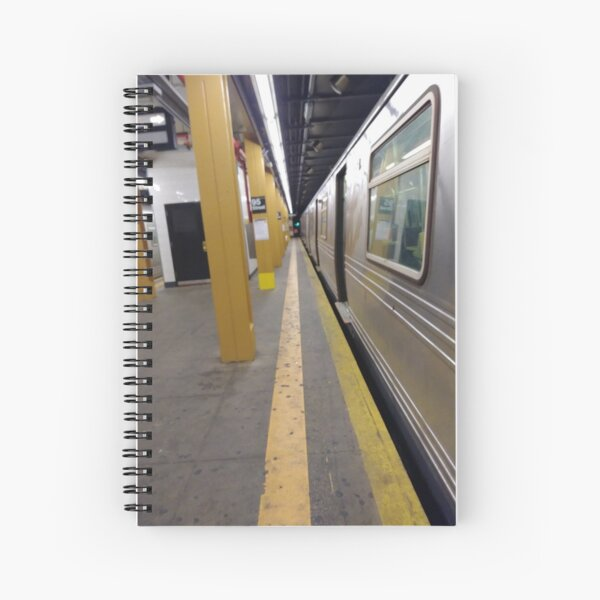 Manhattan, New York, city, Jersey City, view, buildings, water, shore, sky, ✈, plane, skyscrapers Spiral Notebook