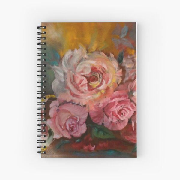 Rich Roses and Cream Spiral Notebook