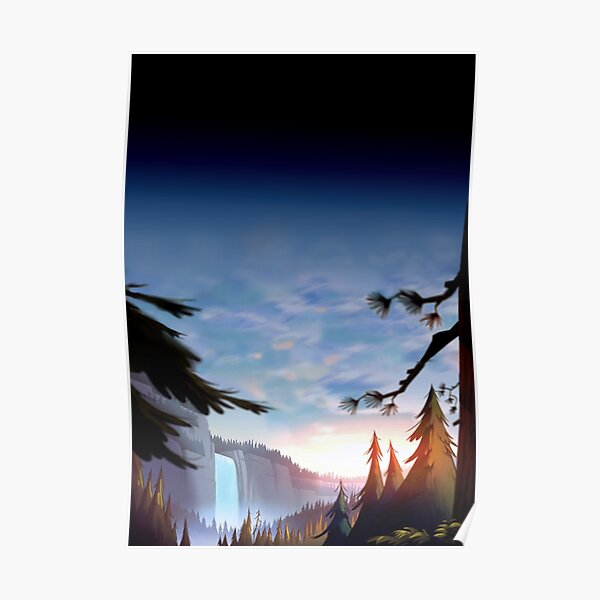 Gravity Falls Forest Poster
