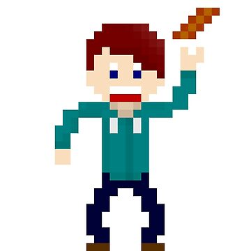 8-bit guys, Bacon fueled geek by snorlax3d