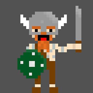 8-bit guys, Viking by snorlax3d