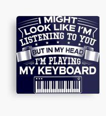 In My Head I'm Playing My Keyboard Metal Print