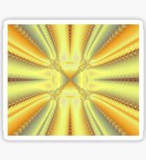 Vibrant Yellow Burst Fractal Sticker