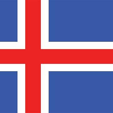 Iceland flag by designseventy