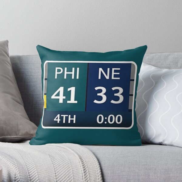 EAGLES SUPER BOWL CHAMPS (Scoreboard- 41-33) Throw Pillow