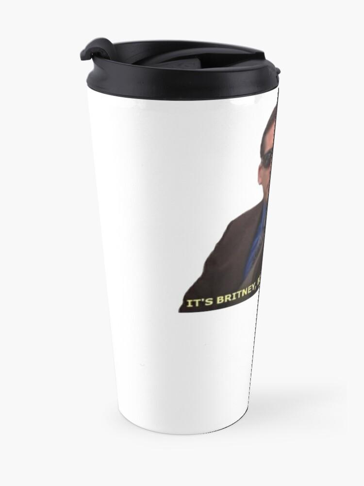 Alternate view of Michael Scott Meme Funny  Travel Mug