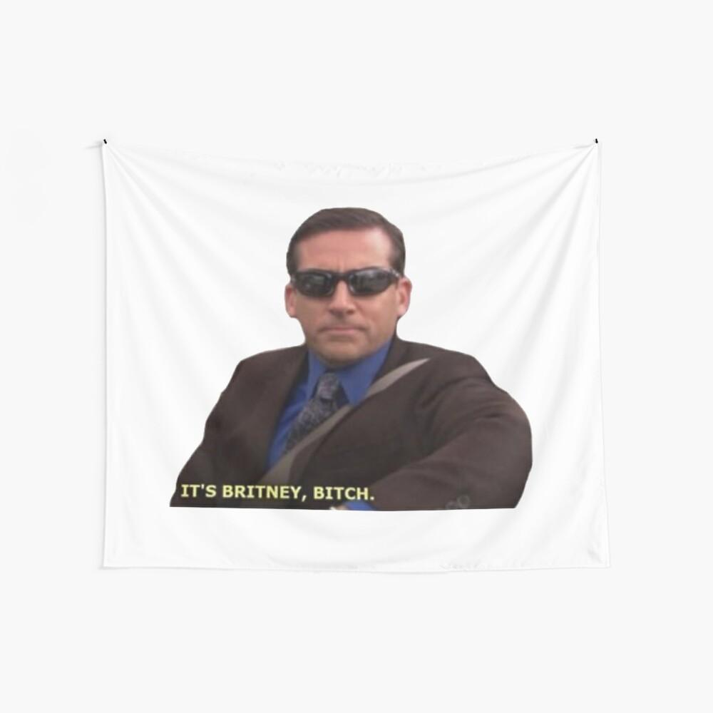 Michael Scott Meme Funny  Wall Tapestry