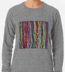 MARDI GRAS : Decorative Necklace Beads Print Lightweight Sweatshirt