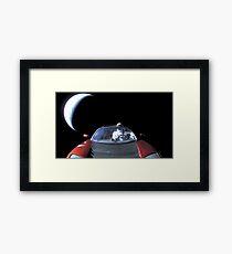 SpaceX's Starman Leaving Earth Behind Framed Print