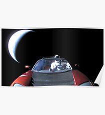 SpaceX's Starman, der die Erde hinterlässt Poster
