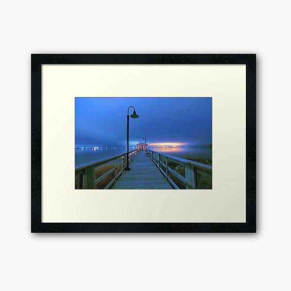 blue nights Framed Art Print